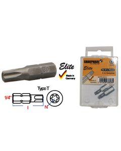 """Bits 1/4"""" C 6.3 Torx T10 x 25mm industrieel (2 stuks) - B25TO,10 S+"""