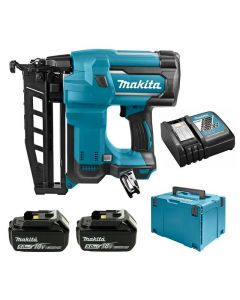 Makita DBN600RTJ 18V Li-ion accu brad tacker set (2x5Ah accu) in MBox