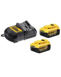 DeWalt 18V 2x 4.0Ah accu dcb182 + oplader DCB105