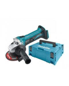 Makita DGA452ZJ 18 V Li-Ion accu Haakse slijper 115 mm body in Mbox