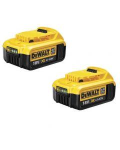 DeWALT 2x DCB182 18V Li-ion accu 4.0Ah voor XR machines - duopack
