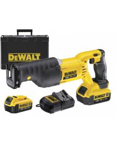 DeWALT DCS380M2 18V reciprozaag set (2x4Ah) in koffer