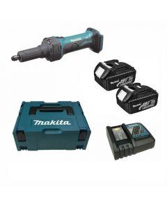 Makita DGD800RFJ 18V Li-Ion accu rechte slijper set (2x 3.0Ah accu) in Mbox