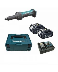 Makita DGD800RMJ 18V Li-Ion accu rechte slijper set (2x 4.0Ah accu) in Mbox
