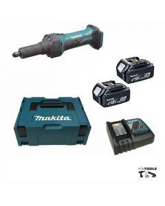 Makita DGD800RTJ 18V Li-ion accu rechte slijper set (2x 5.0Ah) in Mbox