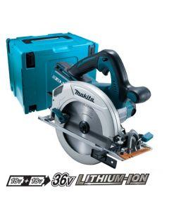 Makita DHS710ZJ 36V (2x 18V) Li-Ion accu cirkelzaag body in Mbox 190mm