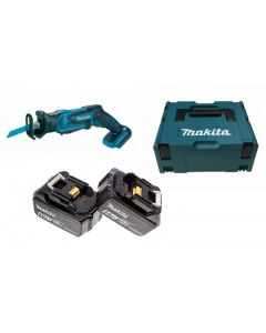 Makita DJR183RTJ 18V Li-ion accu reciprozaag set (2x5.0Ah) in Mbox