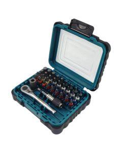 Makita P-79158 39-delige gereedschapset met ratel, bits en bithouder