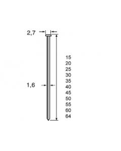 Dutack brads CKN16 CNK 40MM 0° (2.500 stuks)