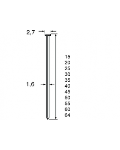 Dutack brads CKN16 CNK 50MM 0° (2.500 stuks)