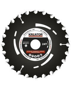 Kreator KRT020301 cirkelzaagblad 135mm 24T - hout/laminaat