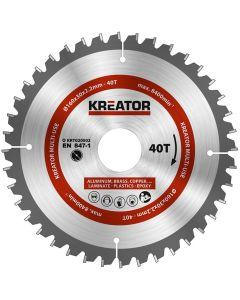 Kreator KRT020502 Cirkelzaagblad 160mm 40T - aluminium / plastics