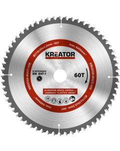 Kreator KRT020504 Cirkelzaagblad 210mm 60T -aluminium / plastics