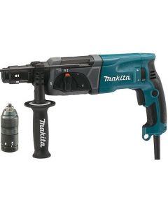 Makita HR2470FT SDS-plus Combihamer incl. snelspanboorkop in koffer - 780W - 2,4J