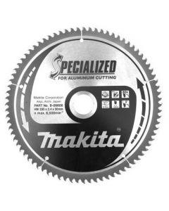 Makita B-09606 Specialized Cirkelzaagblad - 235 x 30 x 80T - Aluminium / Trespa / Kunststof