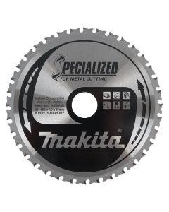 Makita B-09743 Specialized Cirkelzaagblad - 185 x 30 x 36T - Metaal
