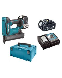 Makita DFN350RMJ 18V Li-ion accu mini brad tacker set (2x4Ah) in Mbox