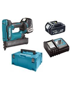 Makita DFN350RTJ 18V Li-ion accu mini brad tacker set (2x5Ah) in Mbox