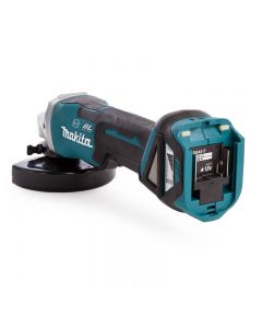 Makita DGA517ZJ 18V Li-Ion Accu haakse slijper body in Mbox - 125mm - koolborstelloos - var. toerental