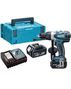 Makita DHP458RTJ 18v accu klopboormachine 5Ah 91Nm