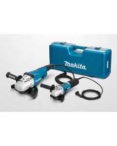 Makita DK1189Z haakse slijper combiset: GA9020R 230mm + 9558HN 125mm - MEU019 - MEU049
