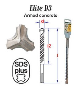 Hamerboor Elite SDS+ D3 * 12.0x460 mm (1 stuks) - PS7483120460