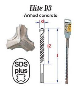 Hamerboor kozijnschroeven Elite SDS+ D3 * 6,5x260 mm (1 stuks)