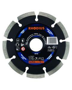 Rhodius 303185 Alphaline I LD50 Diamantdoorslijpschijf - 115 x 22,23 x 7mm - Beton