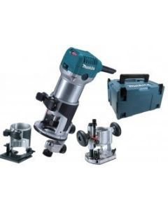 Makita RT0700CX2J bovenfrees kantenfrees trimmer in Mbox 710W