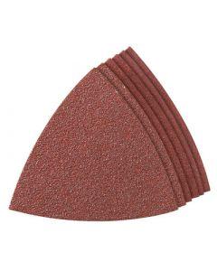 Multitool schuurpapier driehoek P80 - alu. oxide - 20 stuks
