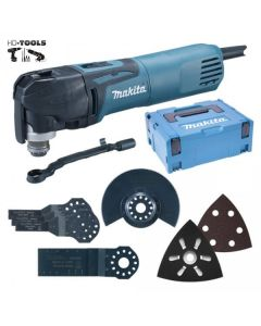 Makita TM3010CX5J multitool 320W set in Mbox + 57 delige accessoiresset